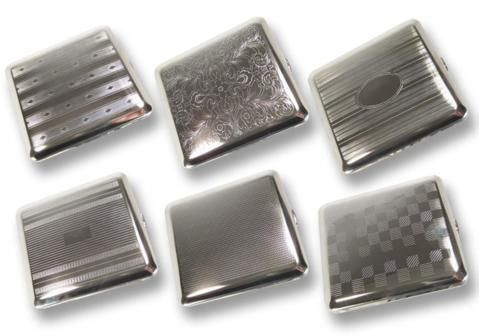 Cigarette Cases 6 metal cigarette cases CC089