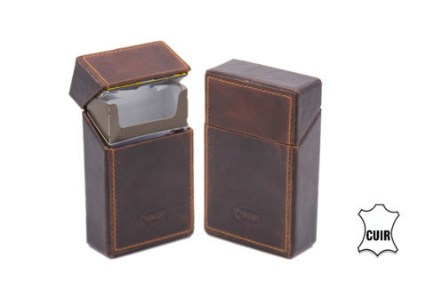 Cigarette Cases Case for regular cigarette pack CC060 brown