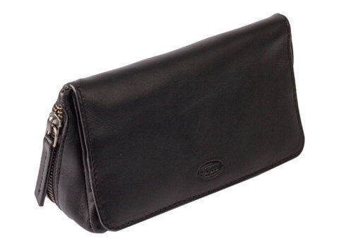 Tobacco Pouches CHACOM 2 pipe case with pouch CC022 - Black