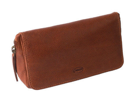 Tobacco Pouches CHACOM 2 pipe case with pouch CC022 - Tan