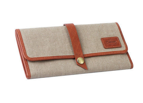 Tobacco Pouches CHACOM Tobacco Pouch CC019 - Beige Canvas & Tan leither