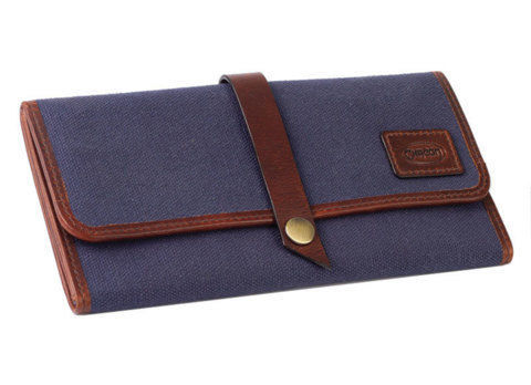 Tobacco Pouches CHACOM Tobbaco Pouch CC019 - blue canvas & leather