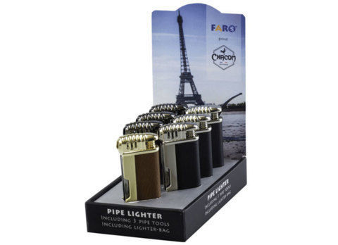 Lighters CHACOM X FARO 7 Pipe Lighter Display