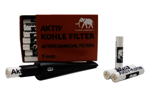 Consumables Filtres 9mm Charbon Actif White Elephant - FCA