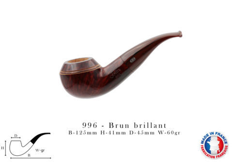 996 Pipe CHACOM 996 - Brun brillant