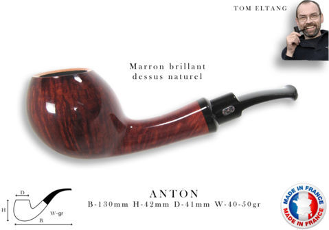 Pipe CHACOM Anton Brun brillant dessus naturel