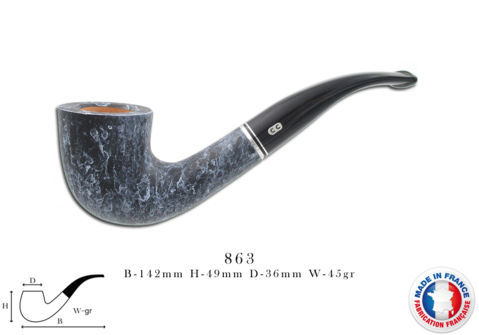 ATLAS ROUGE Pipe CHACOM Atlas marbre n°863