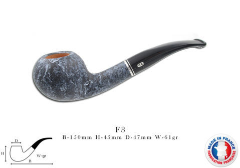 ATLAS ROUGE Pipe CHACOM Atlas marbre n°F3